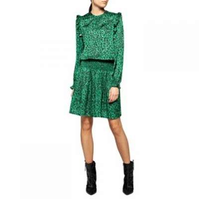 リプレイ Replay レディース ワンピース ワンピース・ドレス dress with animalier print Green Multi