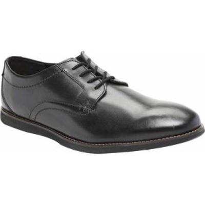 クラークス メンズ スニーカー シューズ Men's Clarks Raharto Plain Toe Oxford Black Leather