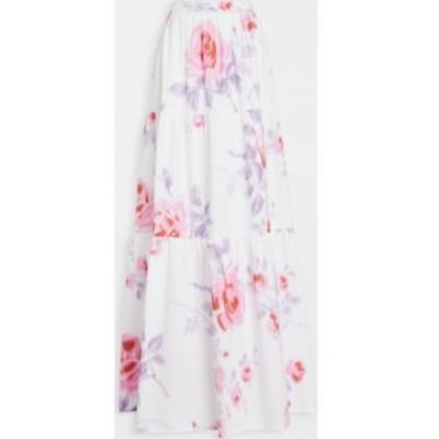 フィロソフィ ディ ロレンツォ セラフィニ Philosophy di Lorenzo Serafini レディース ロング・マキシ丈スカート Floral Maxi Skirt Fan
