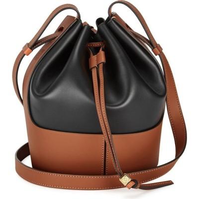 ロエベ Loewe レディース バッグ バケットバッグ Balloon Small Two-Tone Leather Bucket Bag Black