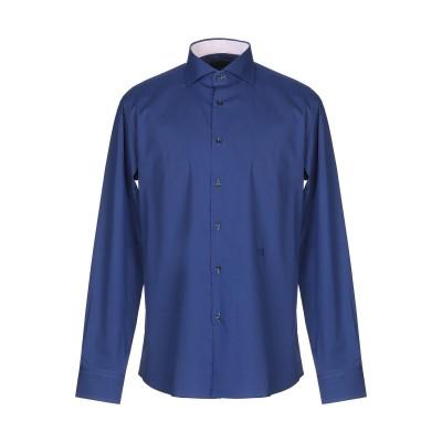 TRU TRUSSARDI シャツ ブルー 42 コットン 98% / ポリウレタン 2% シャツ