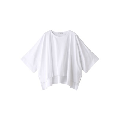 HELIOPOLE エリオポール コットンスムース ビッグTシャツ レディース ホワイト 38