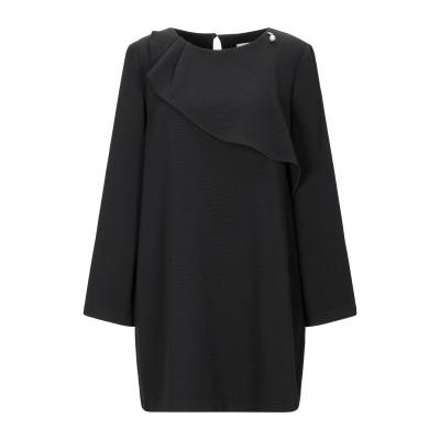 レリッシュ RELISH ミニワンピース&ドレス ブラック 44 ポリエステル 95% / ポリウレタン 5% ミニワンピース&ドレス