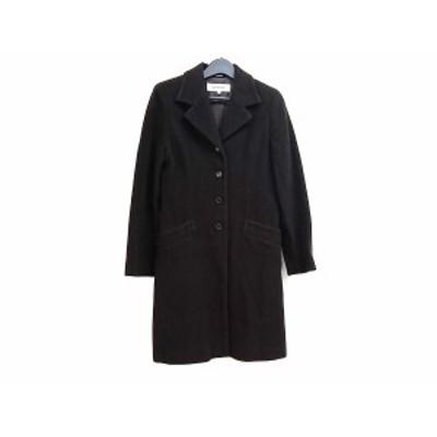 ロートレアモン LAUTREAMONT コート サイズ2 M レディース 黒 冬物【還元祭対象】【中古】