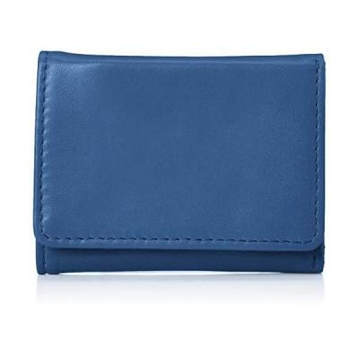 ハレルヤ tooc 三つ折り コンパクト ミニ財布 レディース ブルー TOW001-Blue