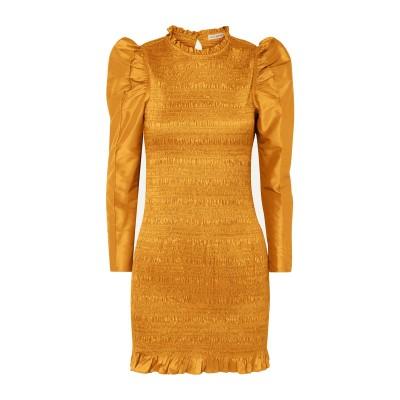 ULLA JOHNSON ミニワンピース&ドレス オークル 10 ポリエステル 78% / シルク 22% ミニワンピース&ドレス