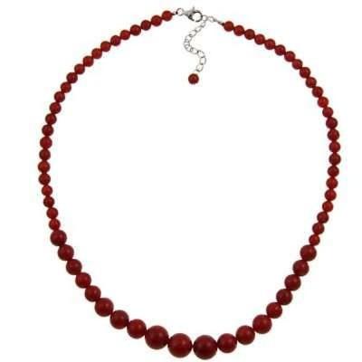 ジェムストーン 海外セレクション Pearlz Ocean Sterling Silver Red Coral Necklace