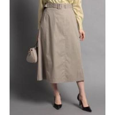 NEWYORKER(ニューヨーカー)マットオックス ウエストゴムロングスカート