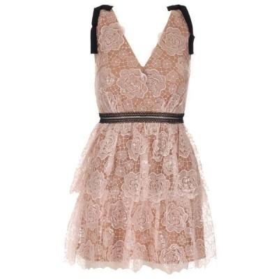 セルフ・ポートレイト レディース ワンピース トップス Self-Portrait Starlet Rose Lace Mini Dress -