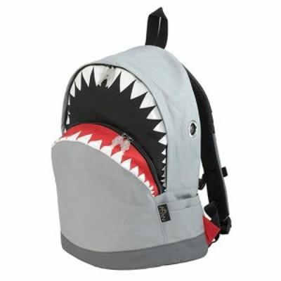 Hug.FACTORY Ocean シャークバックパック カジュアルバッグ Lサイズ リュックサック MORN ジッパー付き ショルダーストラップ ナイロン