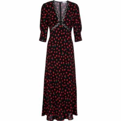 リキソ Rixo レディース ワンピース マキシ丈 ワンピース・ドレス Gemma floral maxi dress Rose Black
