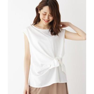 tシャツ Tシャツ ウエストリボンノースリーブカットソー
