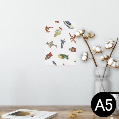 ポスター ウォールステッカー シール式 148×210mm A5 写真 壁 インテリア おしゃれ wall sticker poster 乗り物 おもちゃ ロボット 009466
