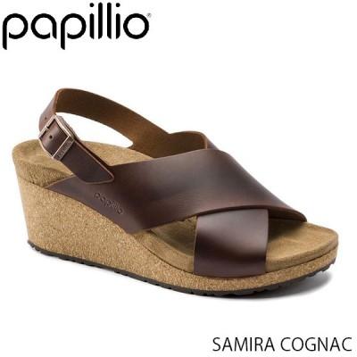 パピリオ Papillio レディース サンダル サミラ SAMIRA WOMEN COGNAC クロスストラップ バックストラップ 幅狭 ナロー プルアップ レザー GL1015829 国内正規品