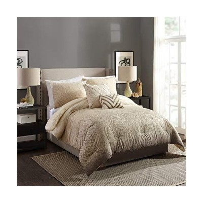 Ayesha Curry Modern Ombre Comforter Set, King, Taupe