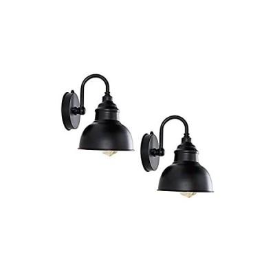 TLOLGT Industrial 2-Packs Wall Lamp Mini Vintage Black Wall Sconce European