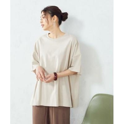 COMME CA ISM/コムサイズム ビックTシャツ オーバーサイズ ベージュ F