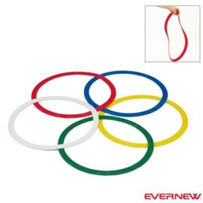 [エバニュー オールスポーツ トレーニング用品]ラバーリング/5色10枚組(ETE096)