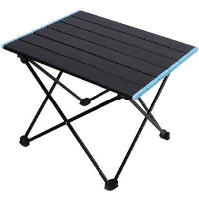 アウトドアテーブル キャンプテーブル ロールテーブル 折りたたみ サイドテーブル ミニ アルミ 収束式 軽量 コンパクト 収納袋付 ピクニック BBQ