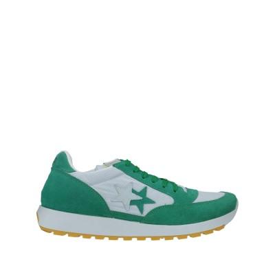 2STAR スニーカー&テニスシューズ(ローカット) グリーン 40 革 / 紡績繊維 スニーカー&テニスシューズ(ローカット)