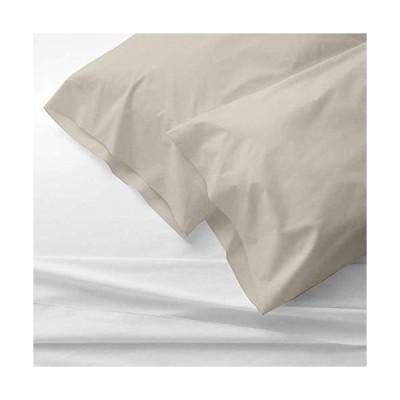 The Bishop コットン枕カバー2枚セット 800スレッドカウント エジプト綿100% 20x40 枕カバー/ケース 高級プレ