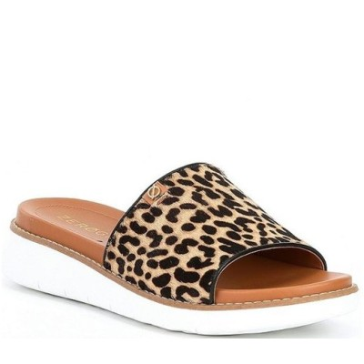 コールハーン レディース サンダル シューズ Zerogrand Global Cheetah Print Haircalf Slide Sandals