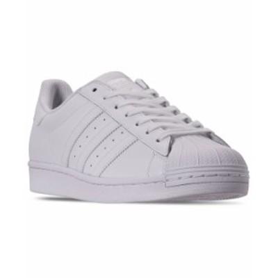 アディダス メンズ スニーカー シューズ Men's Superstar Casual Sneakers from Finish Line Feather White