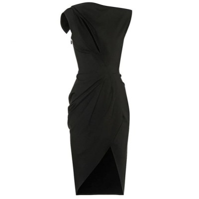 マティスフスキー Maticevski レディース ワンピース ワンピース・ドレス Connector asymmetric dress Black