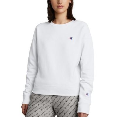 チャンピオン カットソー トップス レディース Women's Embroidered Logo Sweatshirt Silver