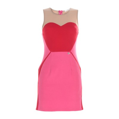 レリッシュ RELISH ミニワンピース&ドレス フューシャ 42 ポリエステル 100% ミニワンピース&ドレス