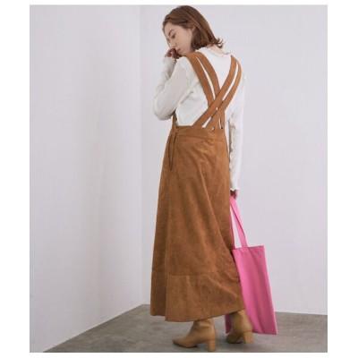 ROPE'/ロペ 【秋まで使える】バッククロスデザインジャンパースカート ブラウン系(23) 38