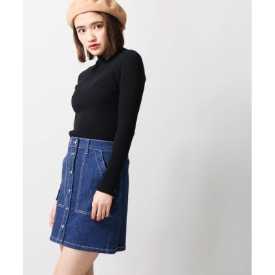WEGO / WEGO/前ボタンタイトミニスカート WOMEN スカート > デニムスカート
