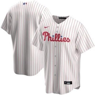 ナイキ メンズ Tシャツ トップス Philadelphia Phillies Nike Home 2020 Replica Team Jersey  White