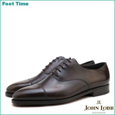 ジョンロブ シティ2 シングルレザー ダークブラウン キャップトゥ ビジネスシューズ 紳士靴 メンズ