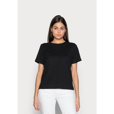 イー ディ シー バイ エスプリ Tシャツ レディース トップス CRISPY - Basic T-shirt - black