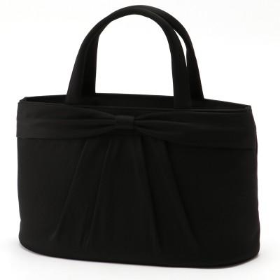 【ブラックフォーマル】 リボンデザインサテンバッグ(プチソワール/PETITSOIR(東京ソワール))