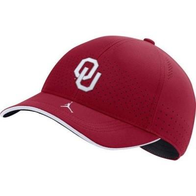 ジョーダン メンズ 帽子 アクセサリー Jordan Men's Oklahoma Sooners Crimson AeroBill Classic99 Football Sideline Hat