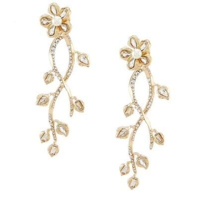 ベルバッジリーミシュカ レディース ピアス・イヤリング アクセサリー Flower Pave Vine Drop Earrings