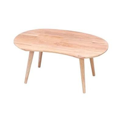 不二貿易 センターテーブル ローテーブル 幅74cm ナチュラル 木製 MAME Natural Signature 37003
