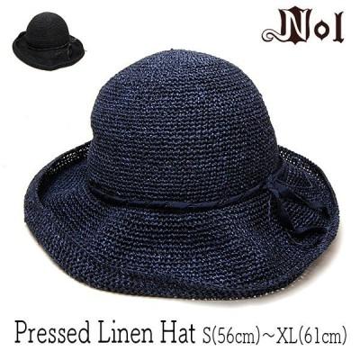 帽子 NOL ノル 細編みレディースハット Pressed Linen Hat 大きいサイズの帽子アリ 小さいサイズの帽子 21SSO