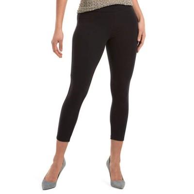 ヒュー レディース カジュアルパンツ ボトムス Women's Wide Waistband Blackout Cotton Capri Leggings
