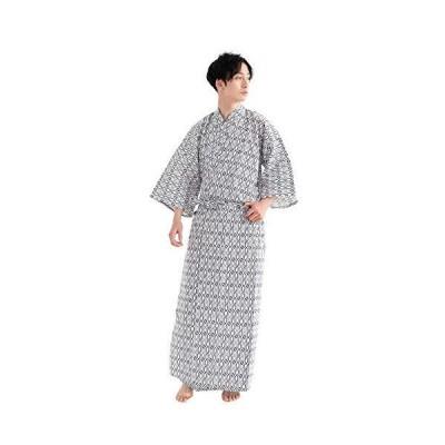 [キョウエツ] 旅館浴衣 2点セット(浴衣/共紐) メンズ (135 04(共紐付き))