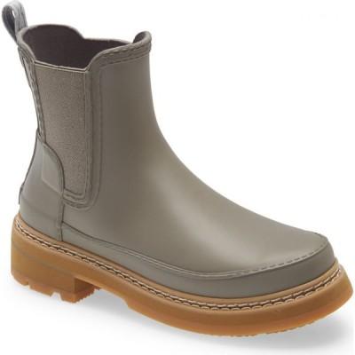 ハンター HUNTER レディース ブーツ チェルシーブーツ シューズ・靴 Refined Stitch Waterproof Chelsea Boot Grey Heron