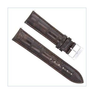 20MM Italian Leather Watch Strap Band for Tissot Watch PRC200,PRS516 Dark Brown並行輸入品