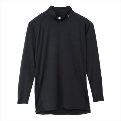 [Champion]チャンピオン モックネック ロング Tシャツ (CM4HP261)(090) ブラック[取寄商品]