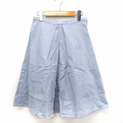 【中古】プラステ PLST スカート フレア タック シンプル サイドジップ 0 ブルー /ST38 レディース 【ベクトル 古着】