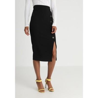 ヴァル ジー スカート レディース ボトムス TORTOISE BUTTON SKIRT - Pencil skirt - black