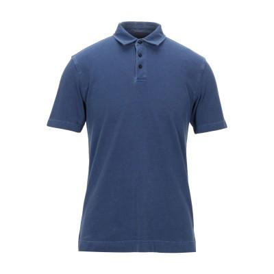 ZZEGNA ポロシャツ ブルーグレー S コットン 100% ポロシャツ