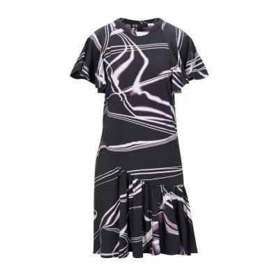 ワイスリー Y-3 ミニワンピース&ドレス スチールグレー S オーガニックコットン 97% / ポリウレタン 3% ミニワンピース&ドレス