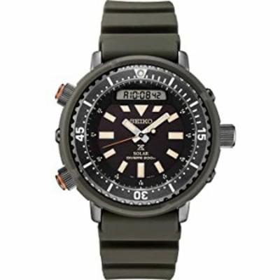 腕時計  並行輸入品 SEIKO セイコー プロスペックス ソーラー ダイバー SNJ031 腕時計  メンズ 逆輸入 アナデジ ブラック 黒 カーキ ツナ